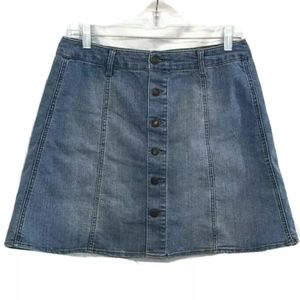 Mossimo Women's Denim Jean Skirt With Buttons